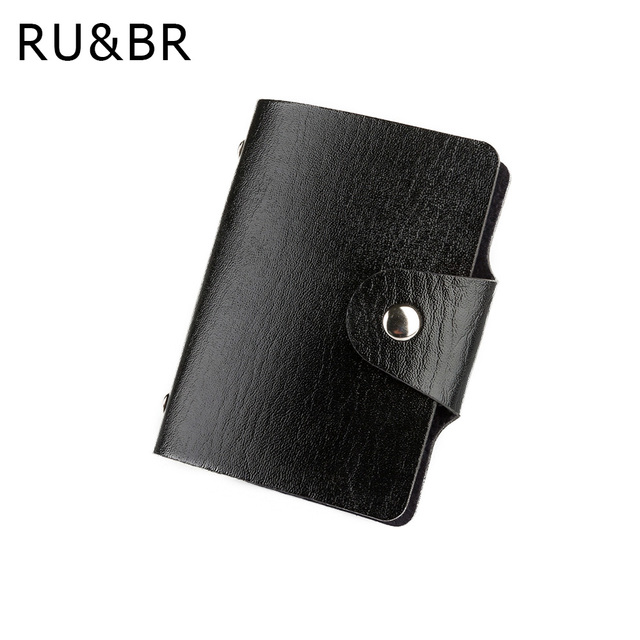 Promotion black pu leather card case business card holder menwomen promotion black pu leather card case business card holder menwomen credit card bag id card wallet colourmoves