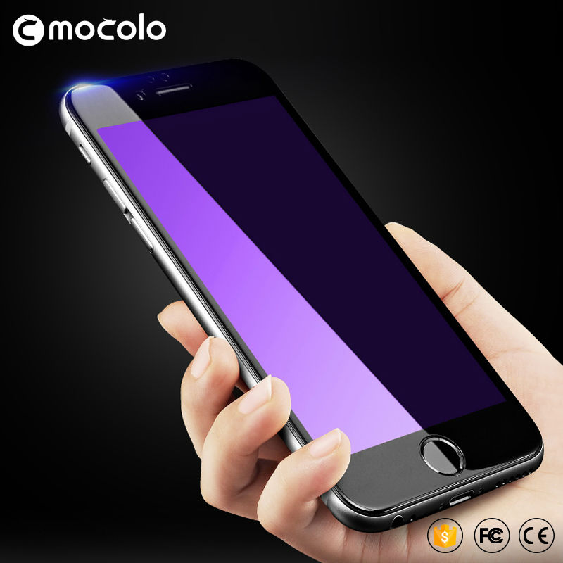 Original Mocolo For iPhone 6 Tempered Glass Glass Edge Screen Protector Film Full Cover Anti Blue Blue For iPhone 6 S Plus- ի համար