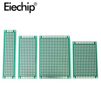 Płytka drukowana 5x7 4x6 3x7 2x8cm dwustronnie prototyp Diy uniwersalne, drukowane płytki drukowanej zestaw do arduino lutowanie elektroniczne pokładzie