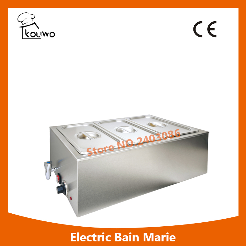 Electric Stainless Steel Hot Food Warmer/buffet Server/bain Marie/Kitchen Equipment,High Quality Kitchen Equipment fast food leisure fast food equipment stainless steel gas fryer 3l spanish churro maker machine
