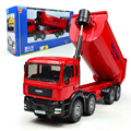 KAIDIWEI 1:50 Eight Truck Model Engineering Vehicle Eight Wheels Dump Trucks Tipping Wagon Alloy  Transporter  Toy truck Car