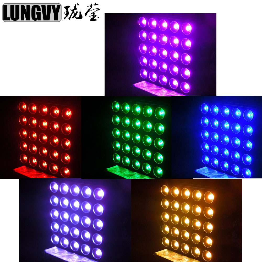 Free Shipping 6pcs/Lot Disco Light Led 25*30W RGB LED Matrix COB DMX512 Led Blinder 5x5 For Bar Club dhl ems free shipping 12pcs lot 20w cree cob led track light for shops gallary lighting
