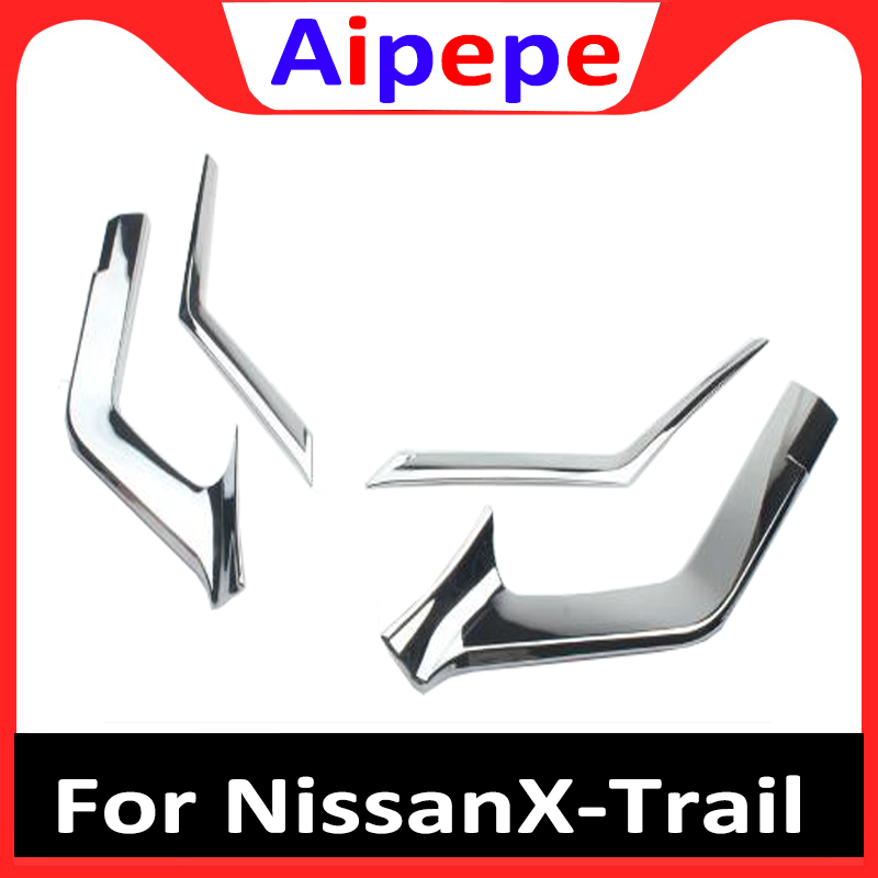 For Nissan x-trail x trail xtrail Rogue T32 2014 2015 2016 Hot ABS Chrome Front grille decoration cover trim stickers case