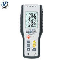 LCD Digital K Type Thermocouple Thermometer Temperature Controller 4 Channel