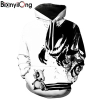 BIANYILONG 3D Cat Printed Men Women Hoodies Cool Funny Sweatshirts Casual Autumn Pullover Winter Outwear Male