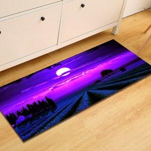 Image 3 - Gratis Verzending Paars Lavendel Anti Slip Badmat Deur Vloer Tapetes Para Casa Sala Tapijt Voor Toliet Antislip Alfombra Bano