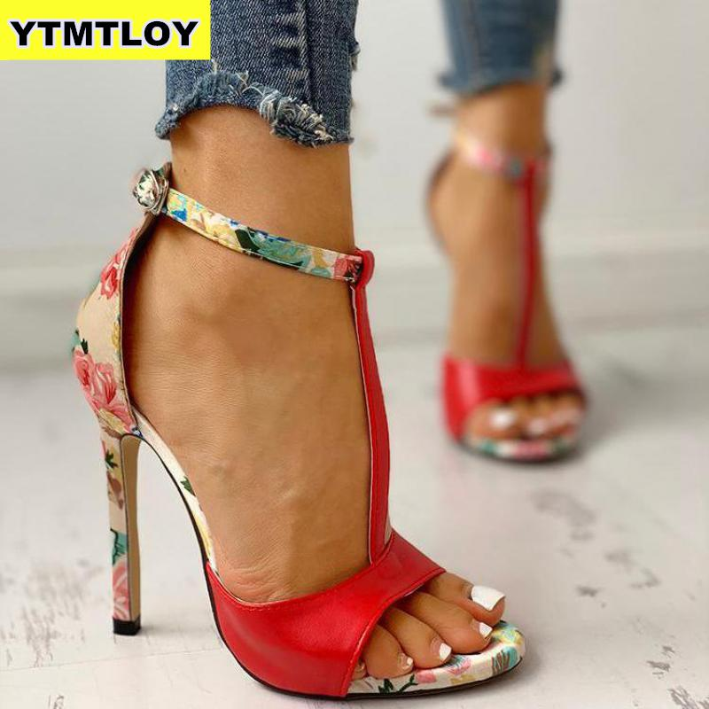 2019 Printing Zapatos Red Fashion Summer Sexy Exquisite 10cm High Heels Ladies Increased Stiletto Super High Heel  Womens Pumps