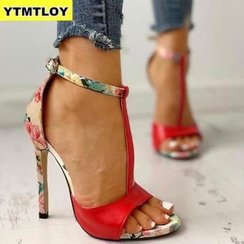 2020 Printing Zapatos Red Fashion Summer Sexy Exquisite 10cm High Heels Ladies Increased Stiletto Super High Heel  Womens Pumps