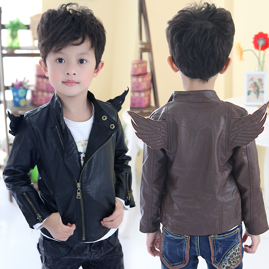 Leather jacket boy