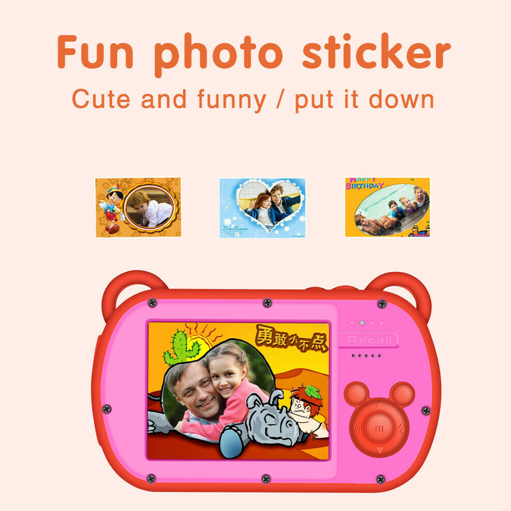 Appareil Photo numérique enregistrement étanche enfants Anti-chute dessin animé mignon Anti-secousse jouet vidéo Anti-poussière cadeaux d'anniversaire Portable Photo