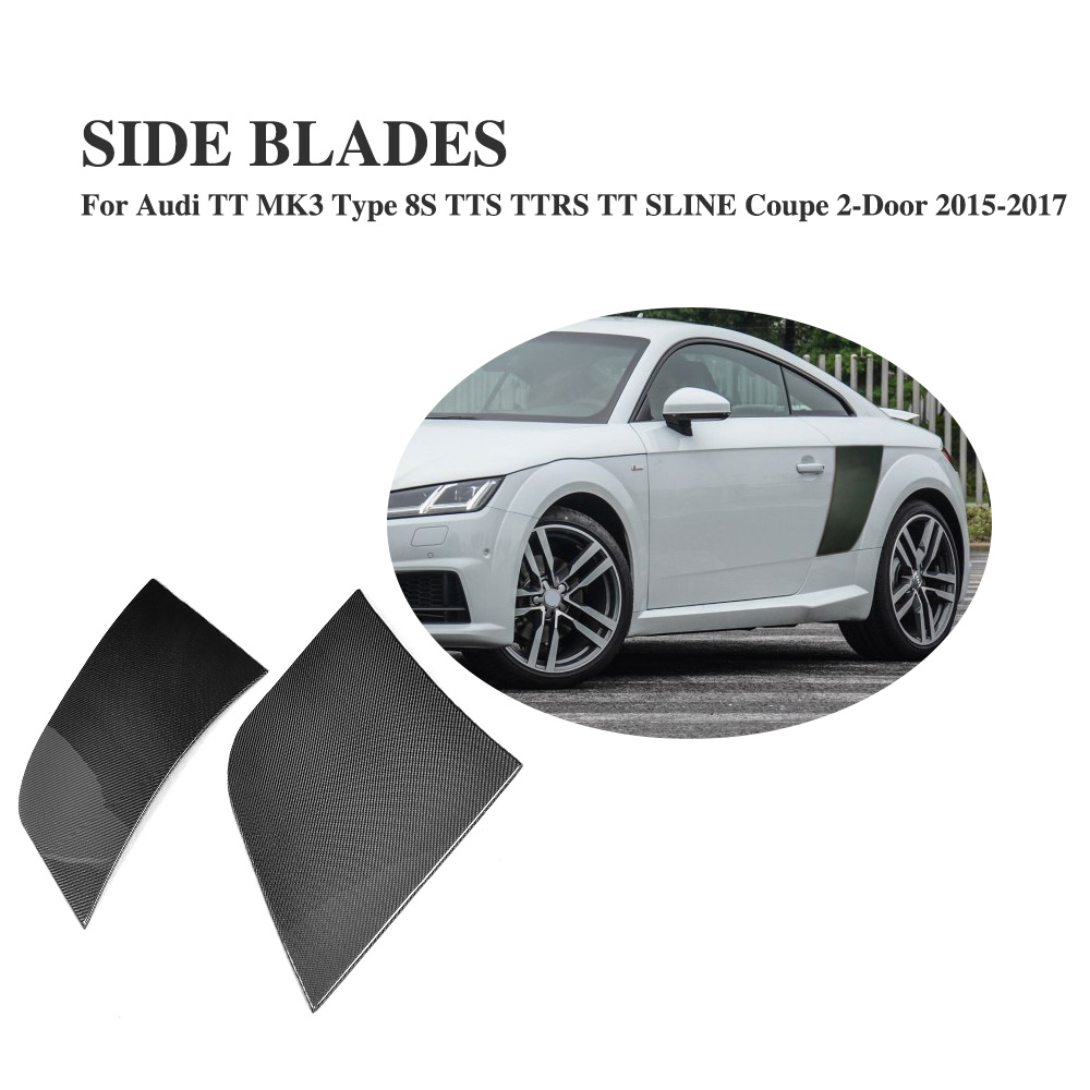 2PCS/Set Carbon Fiber Rear side trunk Trim Fenders for Audi TT 8S TTS TTRS TT Quattro SLINE Coupe 2-Door 2015-2017 audi coupe quattro купить витебск