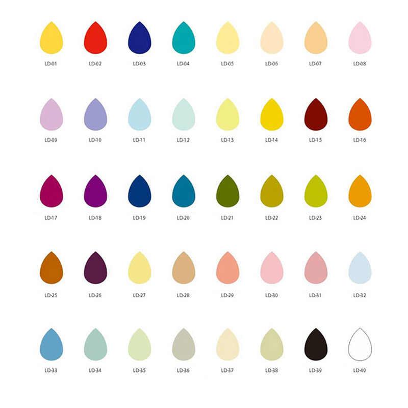 Mini gotas de água forma almofada de tinta colorida dos desenhos animados carimbo de tinta conjunto para diy arte artesanato abraço-ofertas