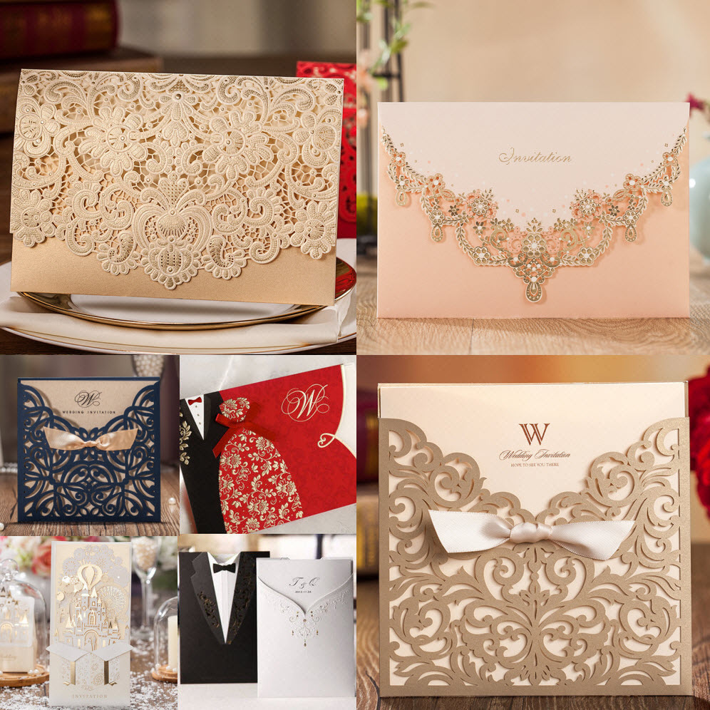 Gift Box Wedding Invitations: Samples, Collection Of Best Selling Wedding Bithday Party