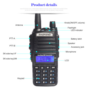 Image 3 - baofeng uv 82 walkie talkie 136 174MHZ and 400 520MHZ (TX/RX) dual PTT  FM Ham Two way Radio Transceiver, walkie talkie
