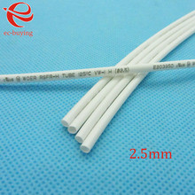 Heat Shrink Tube White Tube Heat-Shrink Tubing Diameter 2.5mm Thermo Jacket Wire Wrap Insulation Materials & Element 1meter /lot