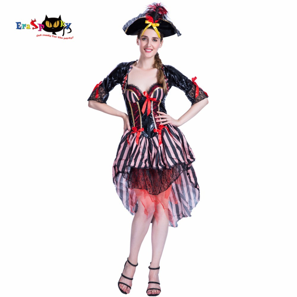 Halloween Costumes For Women Strapless Sexy Dress Female Christmas Party Cosplay Carnival Costume Caribbean Pirate Costume Women