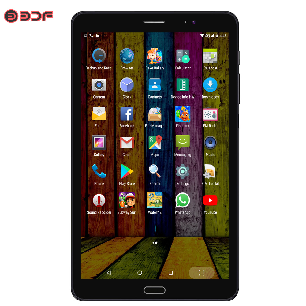 8 Inch 2g 3G 4G LTE SIM Card Mobile Phone Call Tablet Pc Quad Core Android 7.0 Tablets Pc 4GB +64GB Storage 5Mp+12Mp