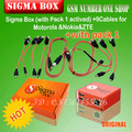 The newest version sigma box with 9 cables with Pack 1 activation for t MTK-based Motorola Alcatel Huawei ZTE and Lenovo