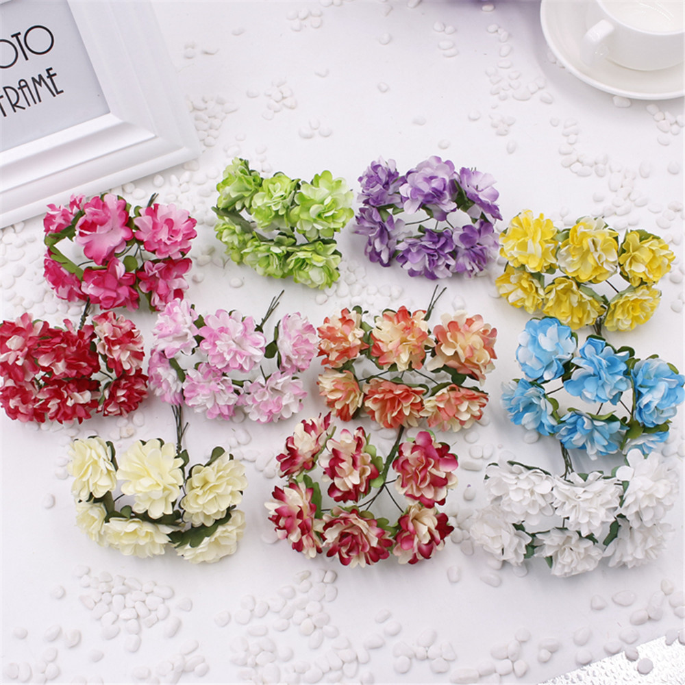 Cheap 12pcs 3cm mini artificial paper rose flower bouquet wedding cheap 12pcs 3cm mini artificial paper rose flower bouquet wedding decor valentine gift scrapbooking in artificial dried flowers from home garden on izmirmasajfo