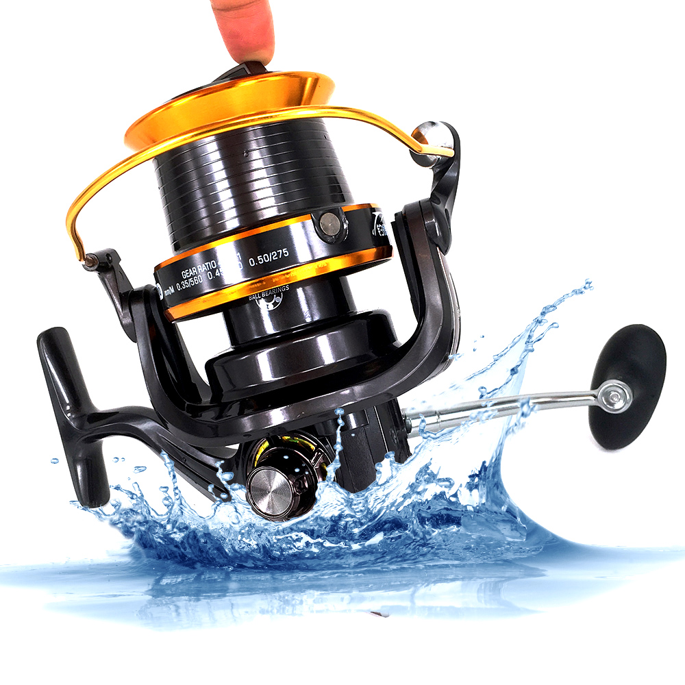 Superior Full Metal 12+1BB 9000 Series Surf Spinning Fisihng Reels Big Long Shot Casting Fly Sea Wire Cup Wheels Aluminum Spool new type superior metal arm 13 1bb 4000 7000 series surf spinning fishing reels big long shot casting fly sea wire cup wheels