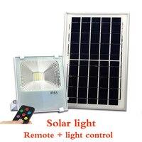 Солнечный инфракрасный пульт дистанционного прожектор Солнечный свет парк Водонепроницаемый светодиодный открытый садовый реклама Smart ос