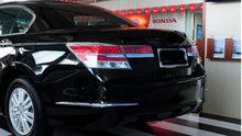 2pcs abs for Honda Accord 2008-2012 rear bumper Decorative strip corner Bright sticker(China)