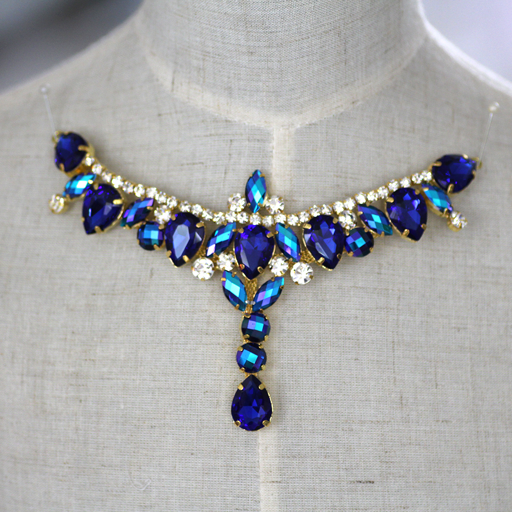 Buy neckline rhinestone applique and get free shipping on AliExpress.com 78942c8c723b