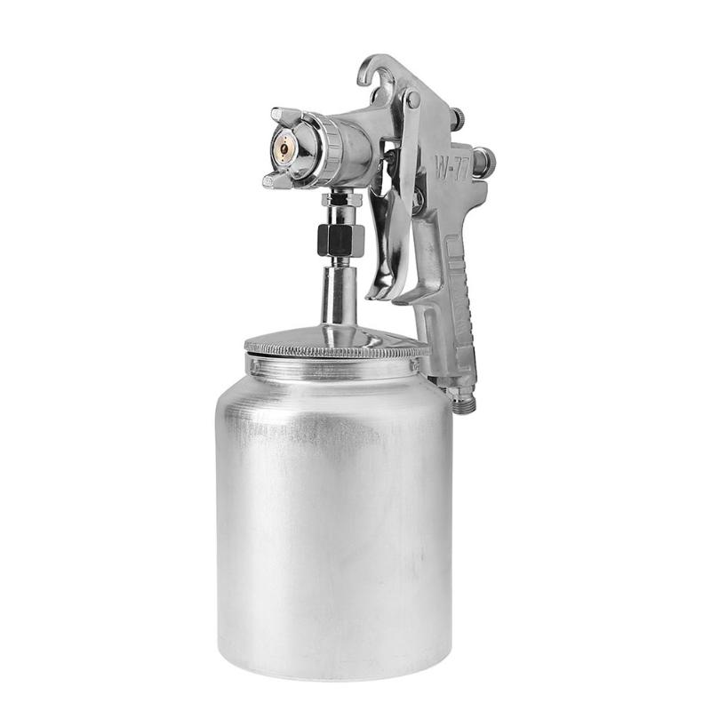 цена на Pneumatic HVLP Paint Spray Gun Air Gravity Feed Furniture Car Paint Tools with 3mm Nozzle 500ml Pot Adjusting Wrench