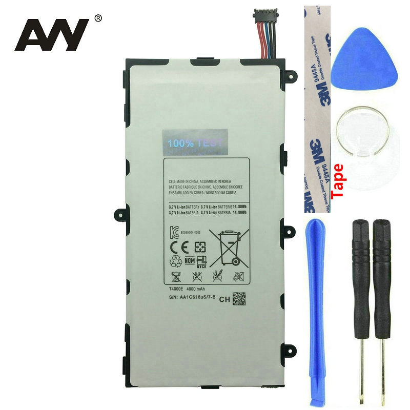 AVY <font><b>T4000E</b></font> Battery For Samsung Galaxy Tab Tablet 3 7.0 T210 T211 T215 SM-T217A T2105 T210R P3200 Rechargeable Batteries 4000 image