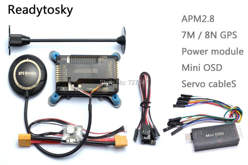 APM APM2.8 Flight Controller Board +Minim OSD+ NEO-M8N 8N / 7M GPS w/ Stand Holder + Power Module  for RC Quadcopter Multicopter ublox neo 6m gps module mini apm pro flight controller board power module xt60 plug for rc quadcopter helicopter airplane