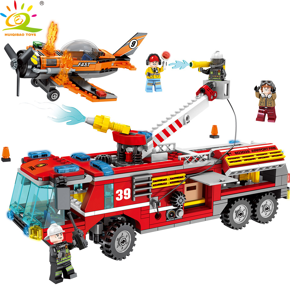 580pcs Fire Ladder Truck Building Blocks Compatible City with Fireman Car Figures Bricks Educational Toys for Children580pcs Fire Ladder Truck Building Blocks Compatible City with Fireman Car Figures Bricks Educational Toys for Children