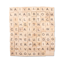 100pcs/lot Creative Diy English Alphabet Puzzle Literacy Box Baby Intelligence Development Wood Crafts