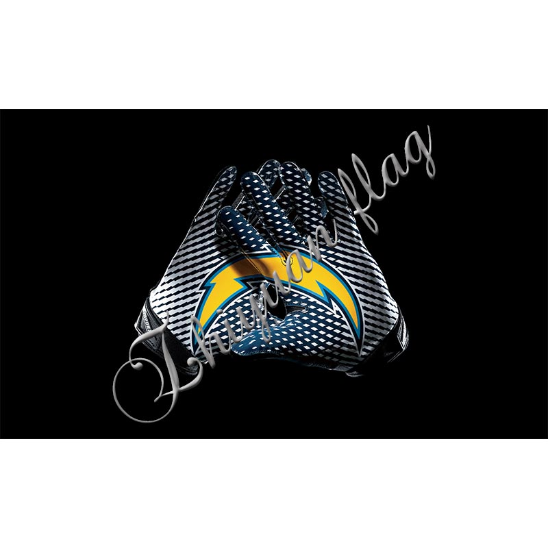 San Diego Chargers Flag: 3x5FT San Diego Chargers Gloves Flag 100D Polyester Flying