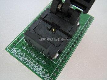 Clamshell QFN 10/DIP QFN 11/DIP11 3*3mm espaciado 0,5mm adaptador de asiento de encendido IC banco de prueba del zócalo del asiento de prueba en stock