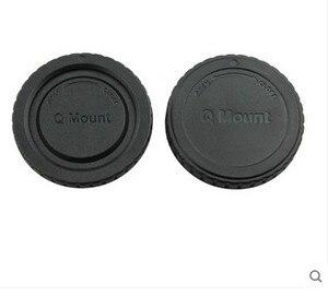 Image 1 - 10 50 çift kamera gövde kapağı + arka Lens kapağı Pentax Q montaj Q S1 Q7 Q10 kamera lens takip numarası ile