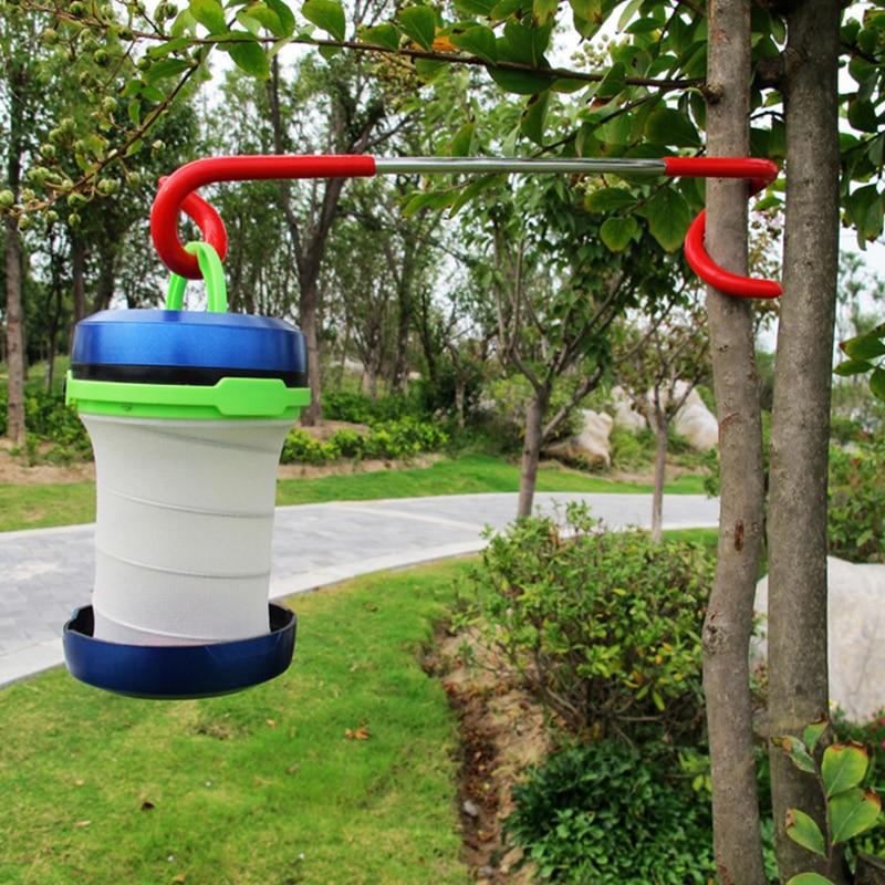 2-way Lantern Light Lamp Hanger Tent Pole Post Hook Outdoor Camping Creative