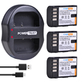 3 шт 1860mAh DMW-BLF19 BLF19E BLF19 батарея и зарядное устройство для Panasonic Lumix GH3 GH4 GH5 G9 GH4K GH3K батареи камеры