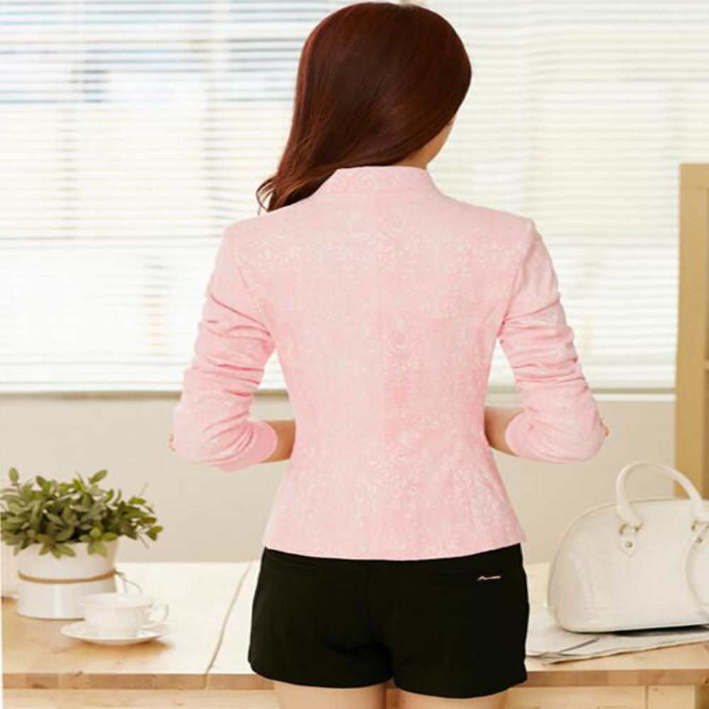 2019 Fashion 2019 Spring V Neck Stylish Women Blazers Blue Korean Slim Fit Female Blazer Women Office Work Suit Jackets White Blue Plus Size Professional Design Back To Search Resultswomen's Clothing Blazers