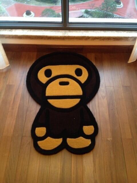 Hot Room Decoration Ape ᐂ Bape Bape Kids Rug Carpet ③