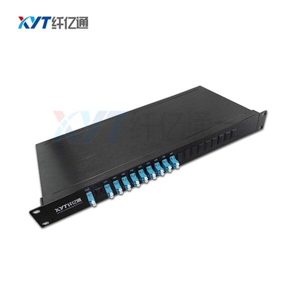 Prix usine 1 m Pigtail LC APC connecteur UPC 1U montage en Rack double fibre (2 entrées 8 sorties) CWDM Mux/DEMUX