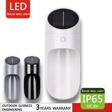 LED Solar Wall Light Microwave Sensor Outdoor Waterproof IP65 Washer Garden Channel Decorative Lighting