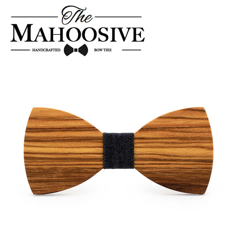 36715ce52511 ... Mahoosive Wood Decoration Sharp Corners Bow Tie Butterfly Knot Men's  Accessories Wedding Party Banquet Club Business ...