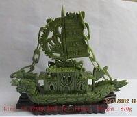 Opracowanie Chiński instrukcja rzeźby of southern Tajwan jade dragon żaglowiec