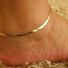 Женский браслет на лодыжку, металлический, золотой, серебряный, ювелирное изделие, Простой Шарм, цепочка на лодыжку, богемные пляжные Подарки для женщин, Tobillera 4H