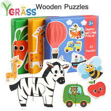 Children Large Matching Puzzle Games Early Learning Card First Jigsaw Puzzle Toys for Children Kids Educational Toys Gift Boy цены онлайн