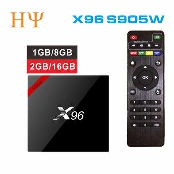 10PCS/LOTS Original X96 Android 7.1 TV BOX Amlogic S905W Quad Core 2GB 16GB support 4K 2.4GHz WiFi Media Player X96 MINI 1G 8G