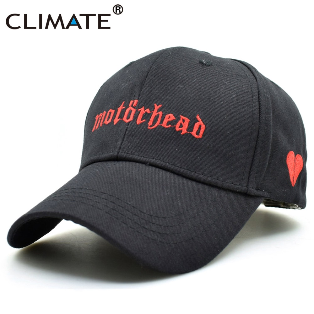 CLIMATE Women Men Cool Rock Baseball Caps Motorhead Fans Black Cap Hard Metal Rock Music Fans Cotton Baseball Trucker Caps Hat brushed cotton twill ivy hat flat cap by decky brown