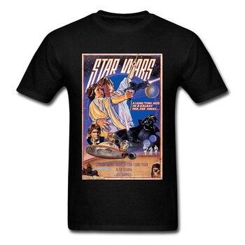 Star Wars Poster Stamp T Shirt Princess Leia Darth Vader Yoda Chewbacca Tshirt Vintage Avengers Endgame T-Shirt Men