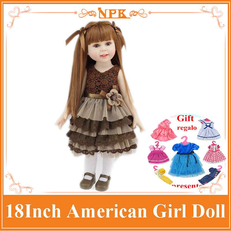 New Very Lovely 18inch Reborn American Girl Doll As The Best Gift Brinquedos For Kids Realistic Baby Bonecas Bebe Toy Brinquedos new arrival 18inch doll npk american sweet girl with curly long hair in floral skirt dress bonecas bebe kids gift brinquedos