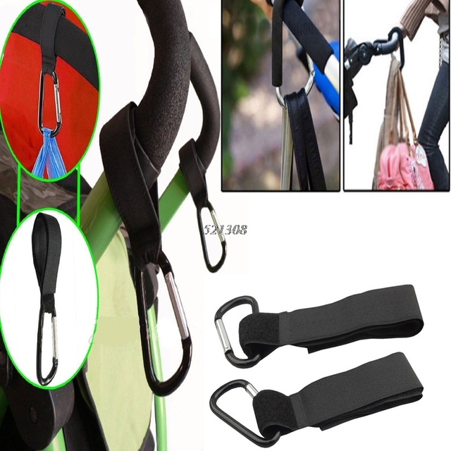 2017 Universal Buggy Mummy Pram Pushchair Carabiner Stroller Hook Shopping Bag 2Pcs MAR3_30